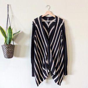 Free People Oversized Chevron Circle Knit Cardigan